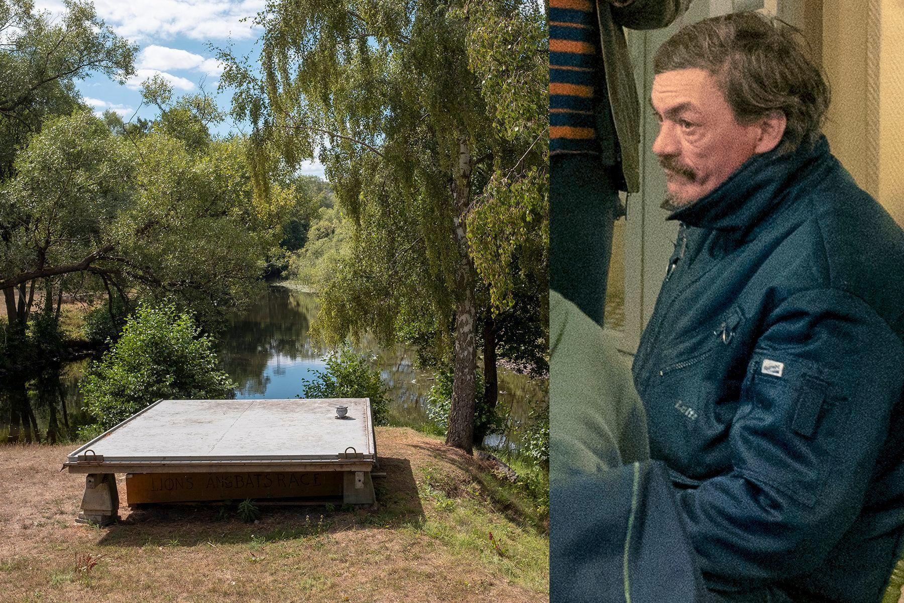 DREPT: Gheorge Hortolomei-Lupu, kjent som «Gica», ble funnet drep i denne parken i Huskvarna i Sverige.