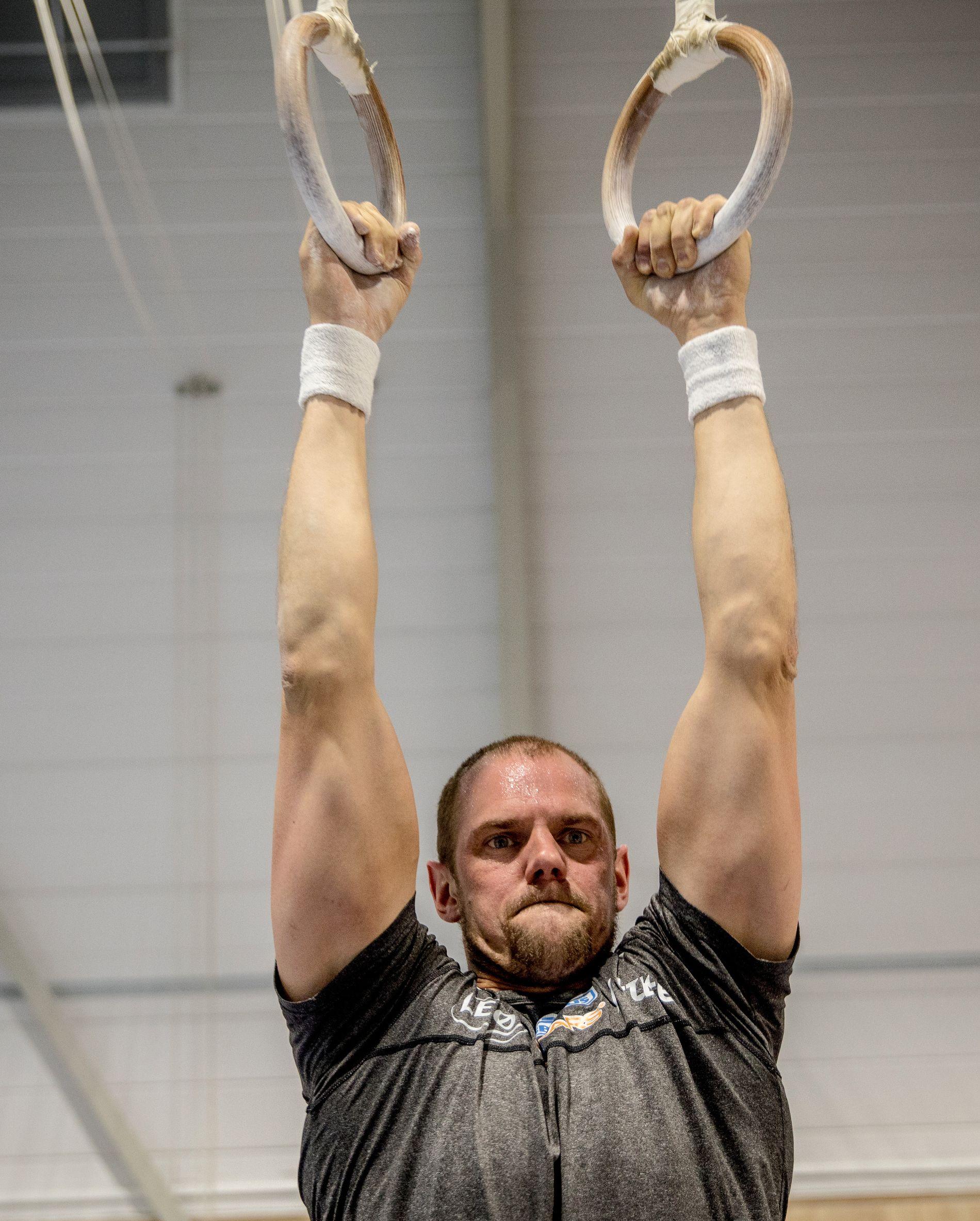 OPP I RINGENE: Olaf Tufte satser mer turntrening enn han har gjort siden OL-gullet i 2008.