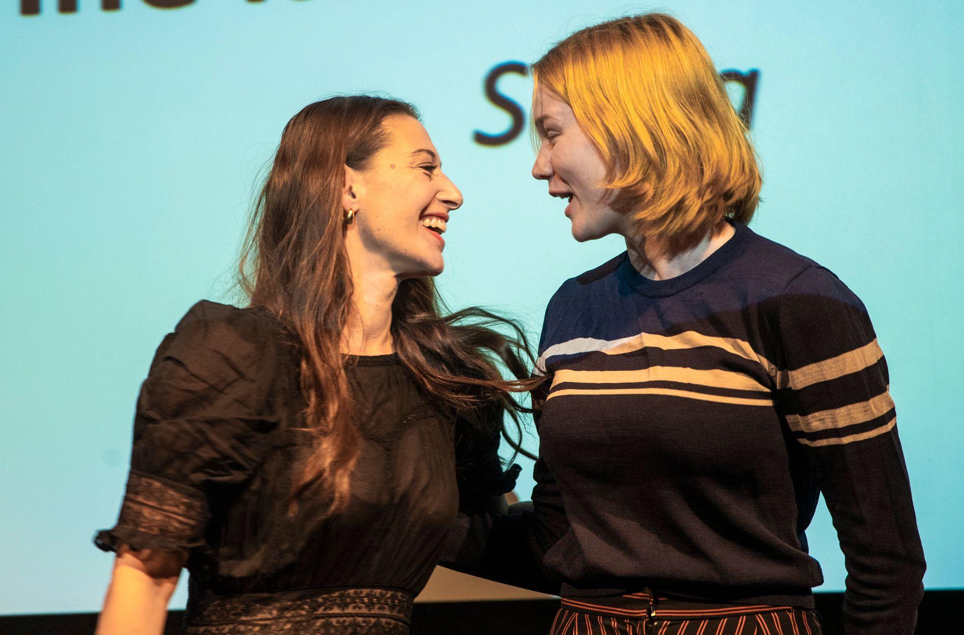 KONKURRENTER: Pia Tjelta (t.v.), Ine Marie Wilmann og Ines Høysæter Asserson er de nominerte i kategorien Beste kvinnelige skuespiller.