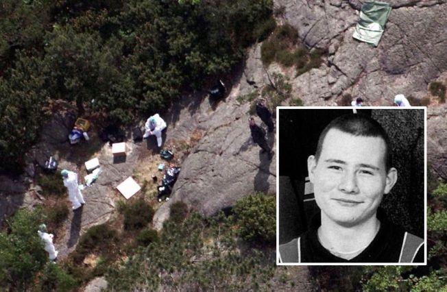 ÅSTED: Krimteknikere i Baneheia i mai 2000 da de to jentene ble funnet døde.