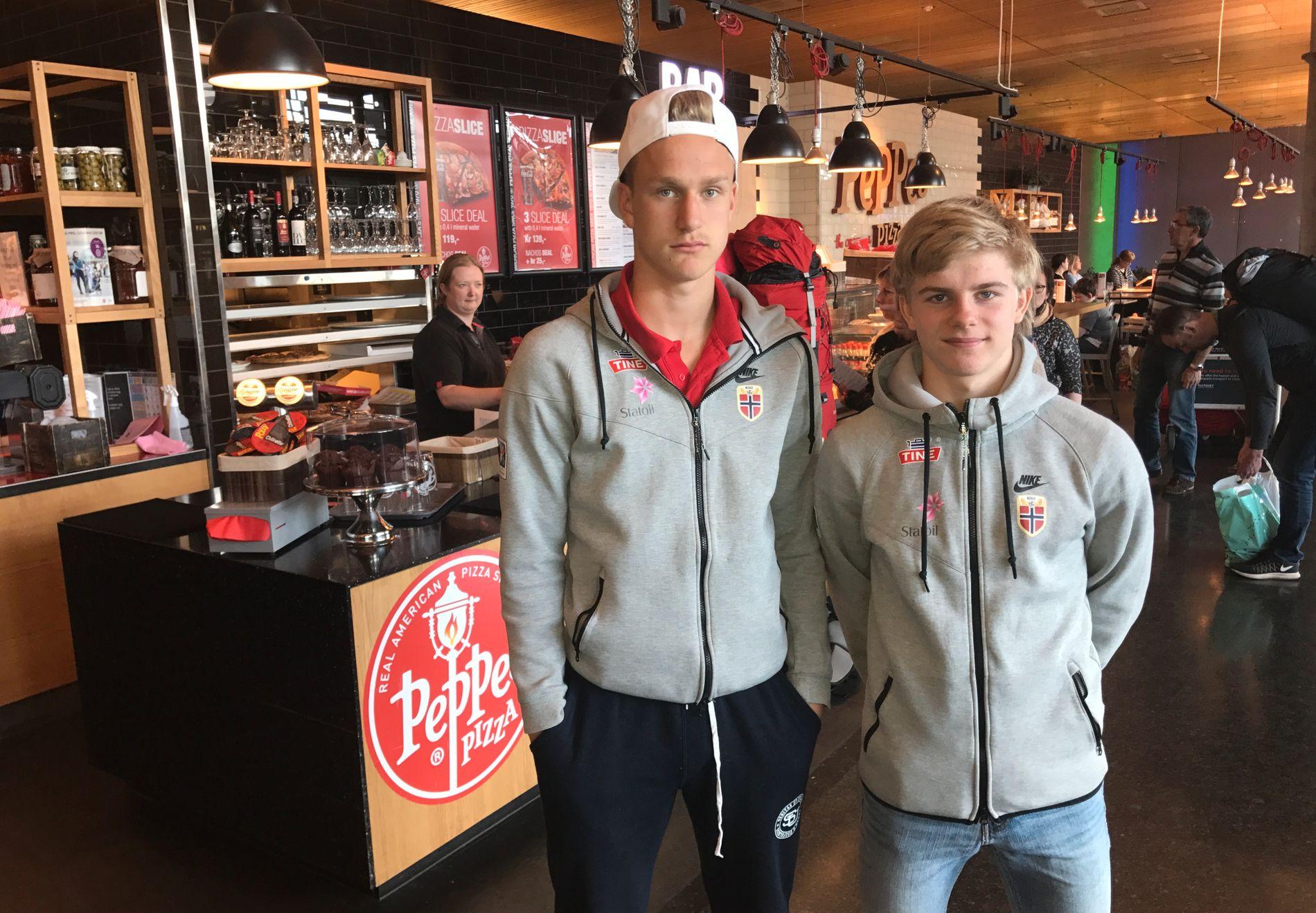 EM-KLARE: Erik Botheim (17) og Edvard Sandvik Tagseth (16) er blant profilene som skal lede Norge i U17-EM i Kroatia.