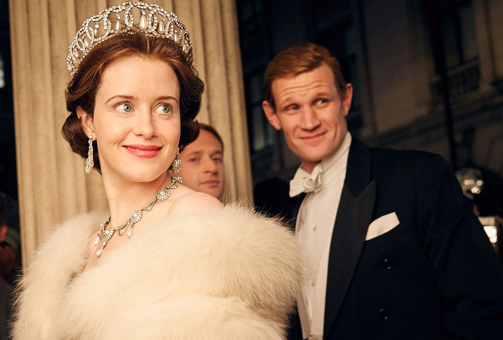 DRONNING: Claire Foy og Matt Smith i «The Crown».