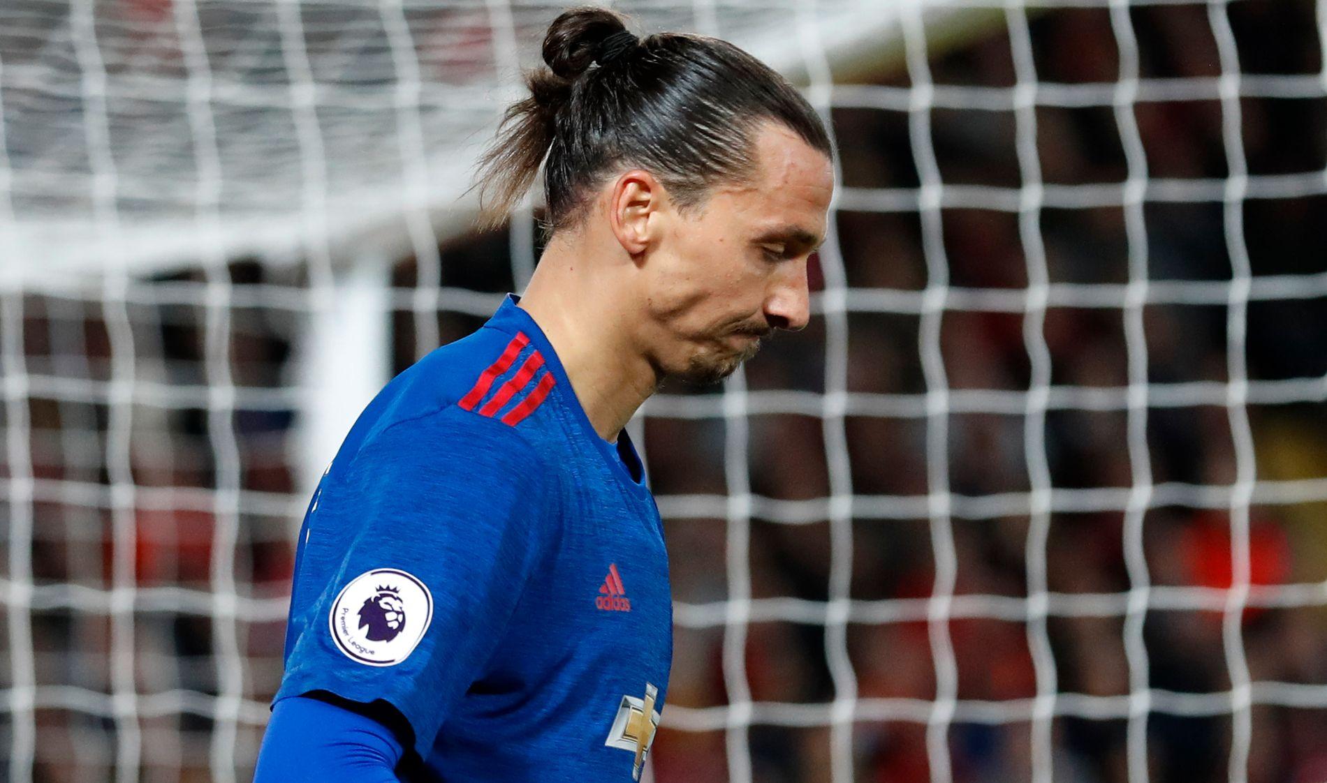 NEDSLÅTT: Zlatan Ibrahimovic  ser bekymret ut etter å ha misbrukt en målsjanse i borteoppgjøret mot Liverpool i forrige uke. Matchen endte 0-0.