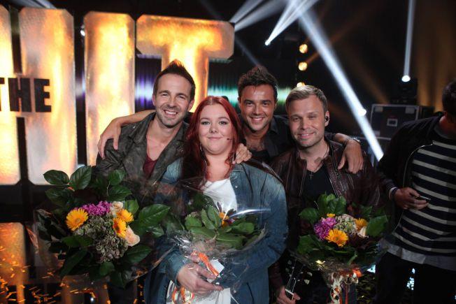 KUNNE JUBLE: Mathilde Johnson og A1 gikk helt til topps med låten «Critical Love», og er dermed videre til den store finalen i «The Hit», i slutten av oktober.