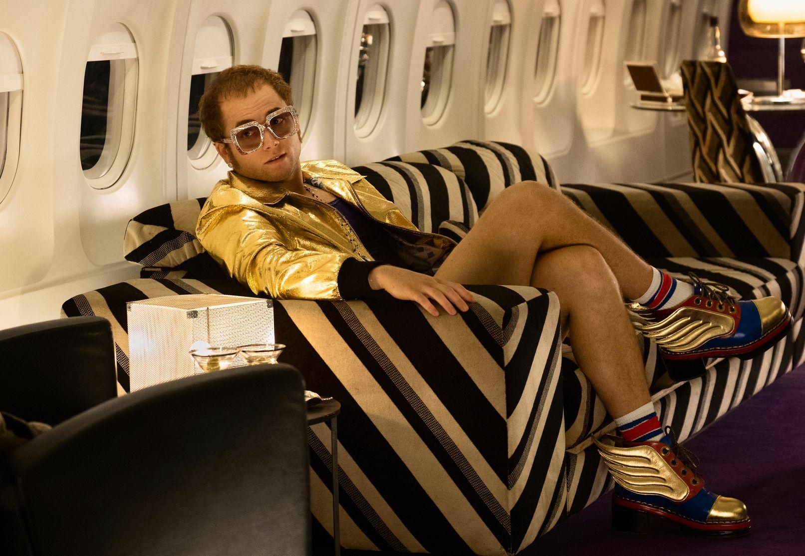 I FILMEN: Taron Egerton som Elton John i «Rocketman».