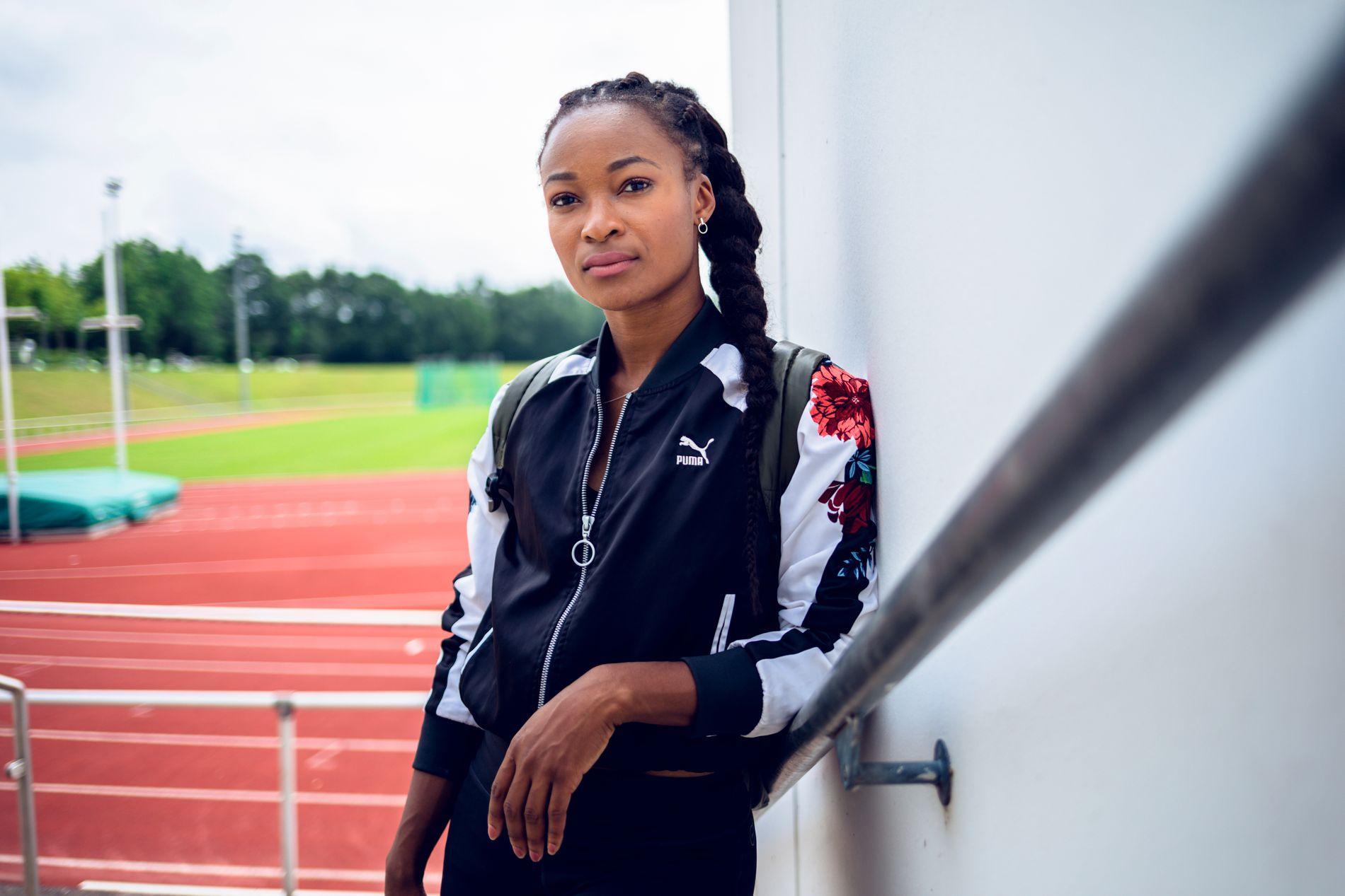 I TYSKLAND: Ezinne Okparaebo tok denne uken imot VG på basen i Paderborn hvor hun har brukt egne sparepenger for å kunne trene siden mars.