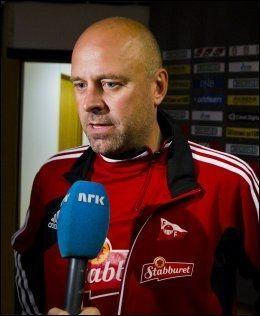 - VIKTIG SEIER: FFK-trener Trond Amundsen var fornøyd med prestasjonen og tre poeng til østfoldingene mot Lillestrøm i dag. Foto: Vegard Grøtt, NTB Scanpix