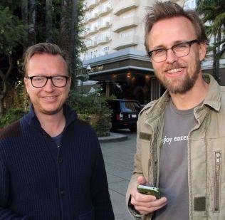 REGISSØRDUO: Espen Sandberg og Joachim Rønning - her avbildet i Beverly Hills i vår.