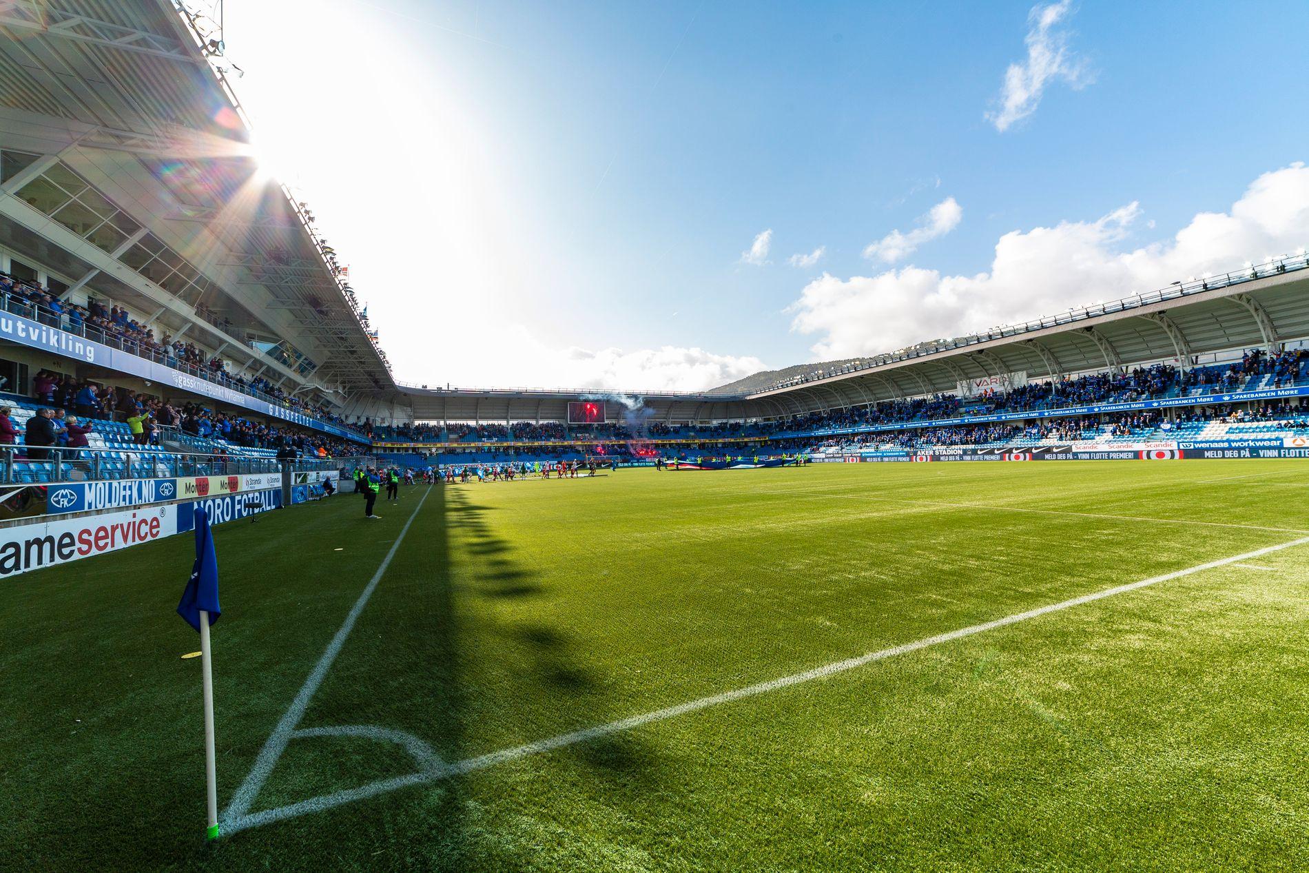 ALVORLIG SAK: Moldes hjemmebane, Aker Stadion, fotografert før eliteseriekampen mot Strømsgodset 16. mai i år.