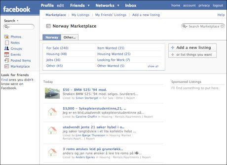 61d5762a (VG Nett) Den hotte nettjenesten Facebook er i siget og lanserer et gratis  bruktmarked for sine brukere.