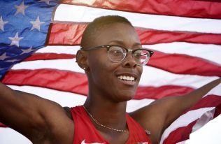 RASKEST I ÅR: Shamier Little fra USA feier etter å ha vunnet 400 meter hekk i de panamerikanske lekene i Toronto for en måned siden.