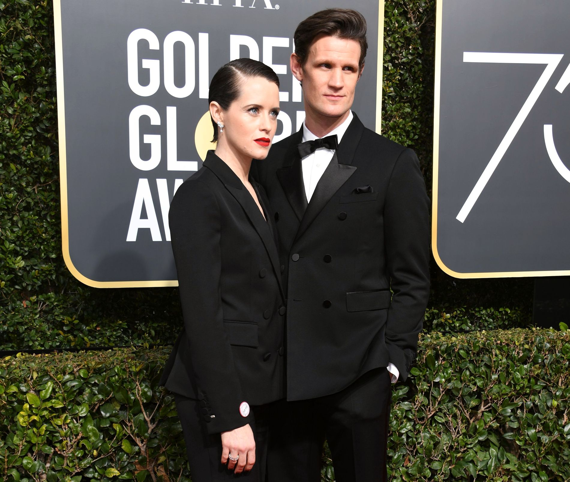 TV-PAR: Claire Foy og Matt Smith på årets Golden Globe Awards i Los Angeles.