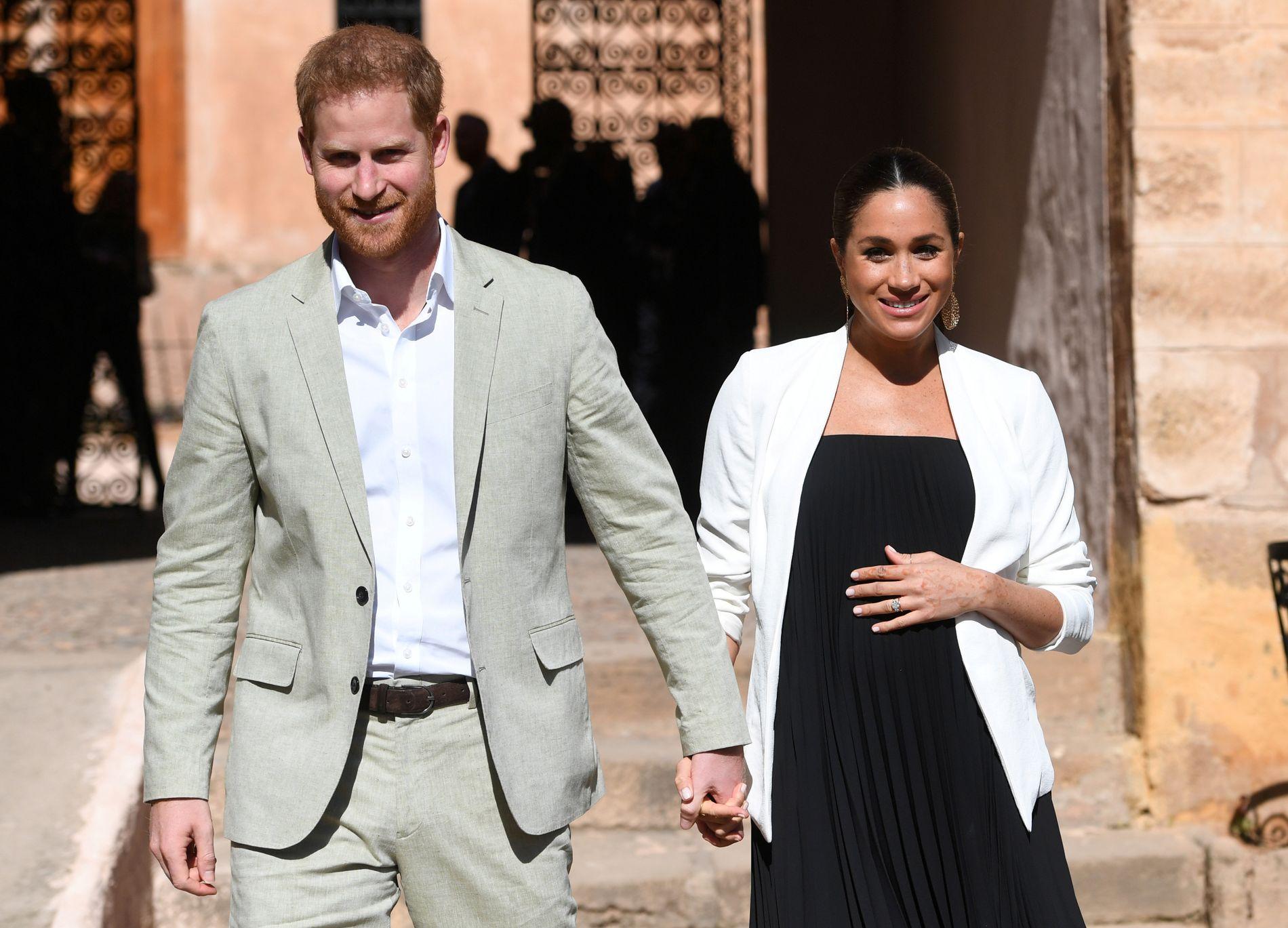 FØRSTEFØDTE: Barnet til Meghan Markle og prins Harry blir nummer syv i arverekken til den britiske tronen.