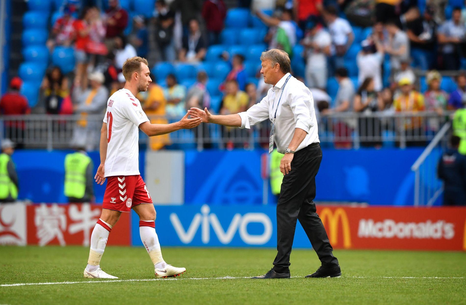 SES IKKE: Mandag skulle Christian Eriksen og Åge Hareide møtes til landslagssamling for første gang siden VM var over. Slik blir det ikke.