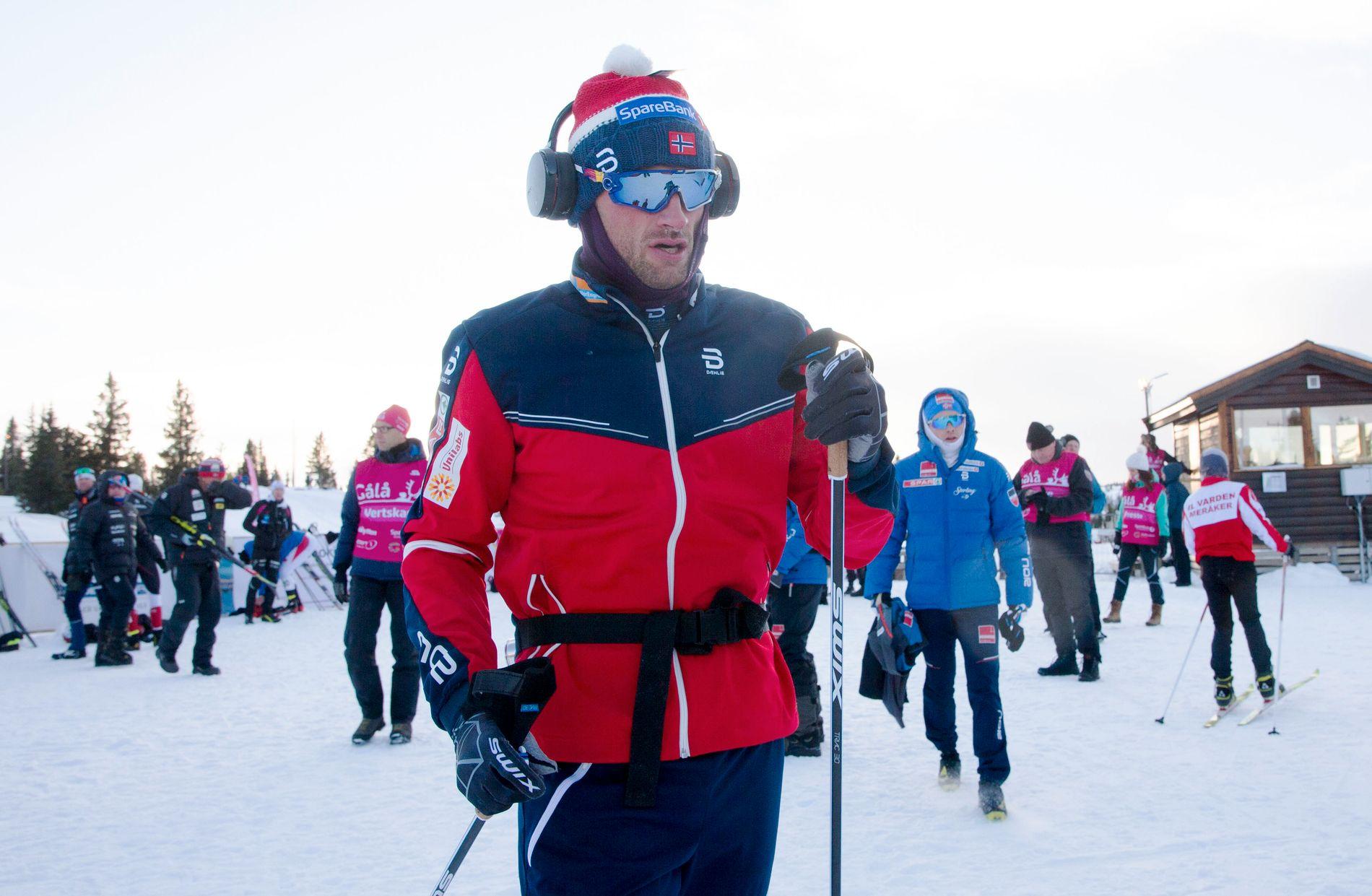 SISTE DYST: Petter Northug varmer opp før Gålå-sprinten i fjor høst. Etter norgescuprennene på Gålå, gikk Northug knapt et renn hele sesongen.