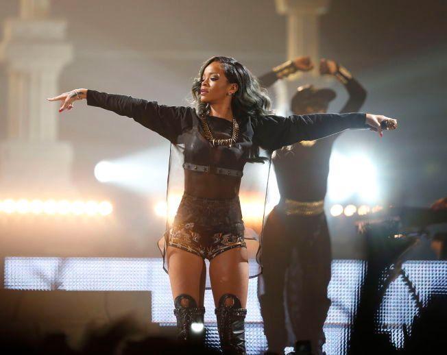 SHOW-DAME: I 2013 opptrådte Rihanna på Telenor Arena, og 2. juli i år er hun tilbake med nytt album på samme scene.