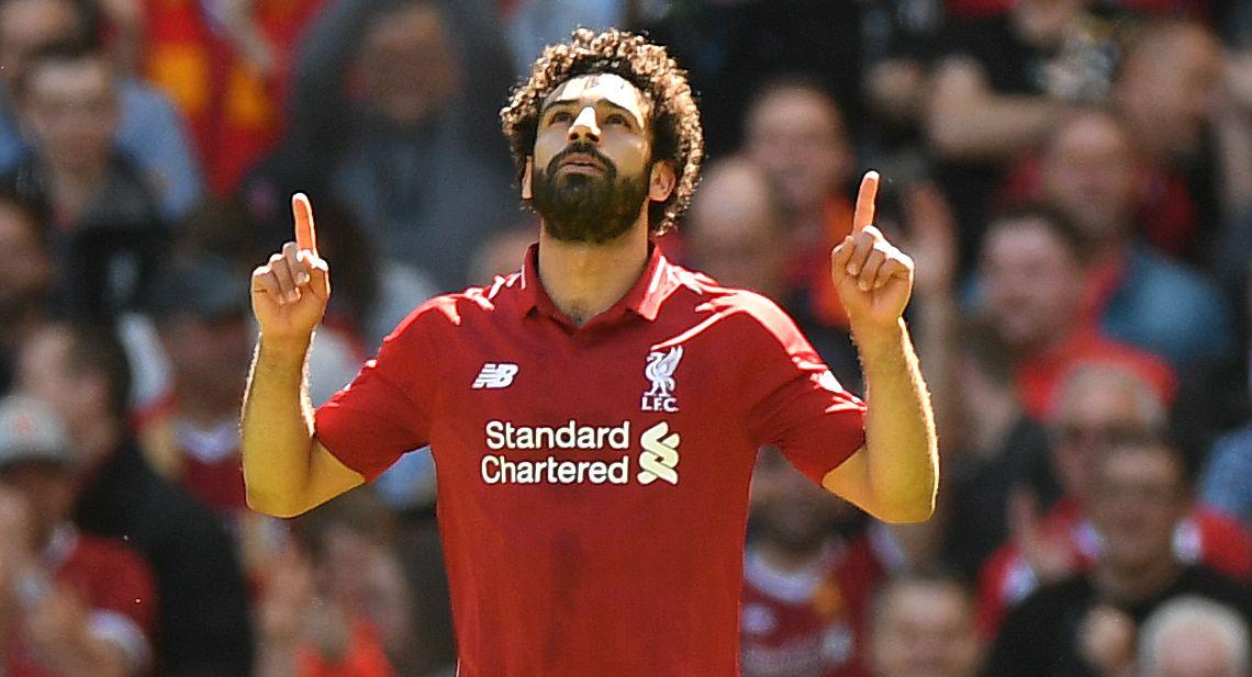SUPERSTJERNE: Mohamed Salah, her i Liverpool-drakt.