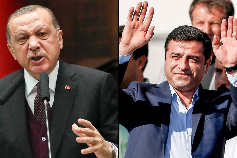 I KONFLIKT: Selahattin Demirtas har sittet fengslet siden 4. november. Han er saksøkt for å ha fornærmet Tyrkias president Recep Tayyip Erdogan.