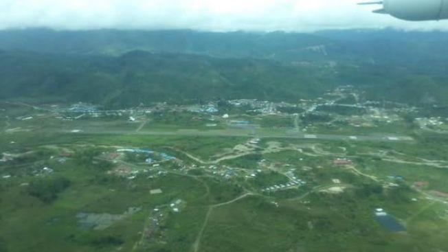 OKSIBIL FLYPLASS: Her skulle flyet landet i 15-tiden søndag lokal tid. Klokken 14.55 forsvant det imidlertid fra radaren.
