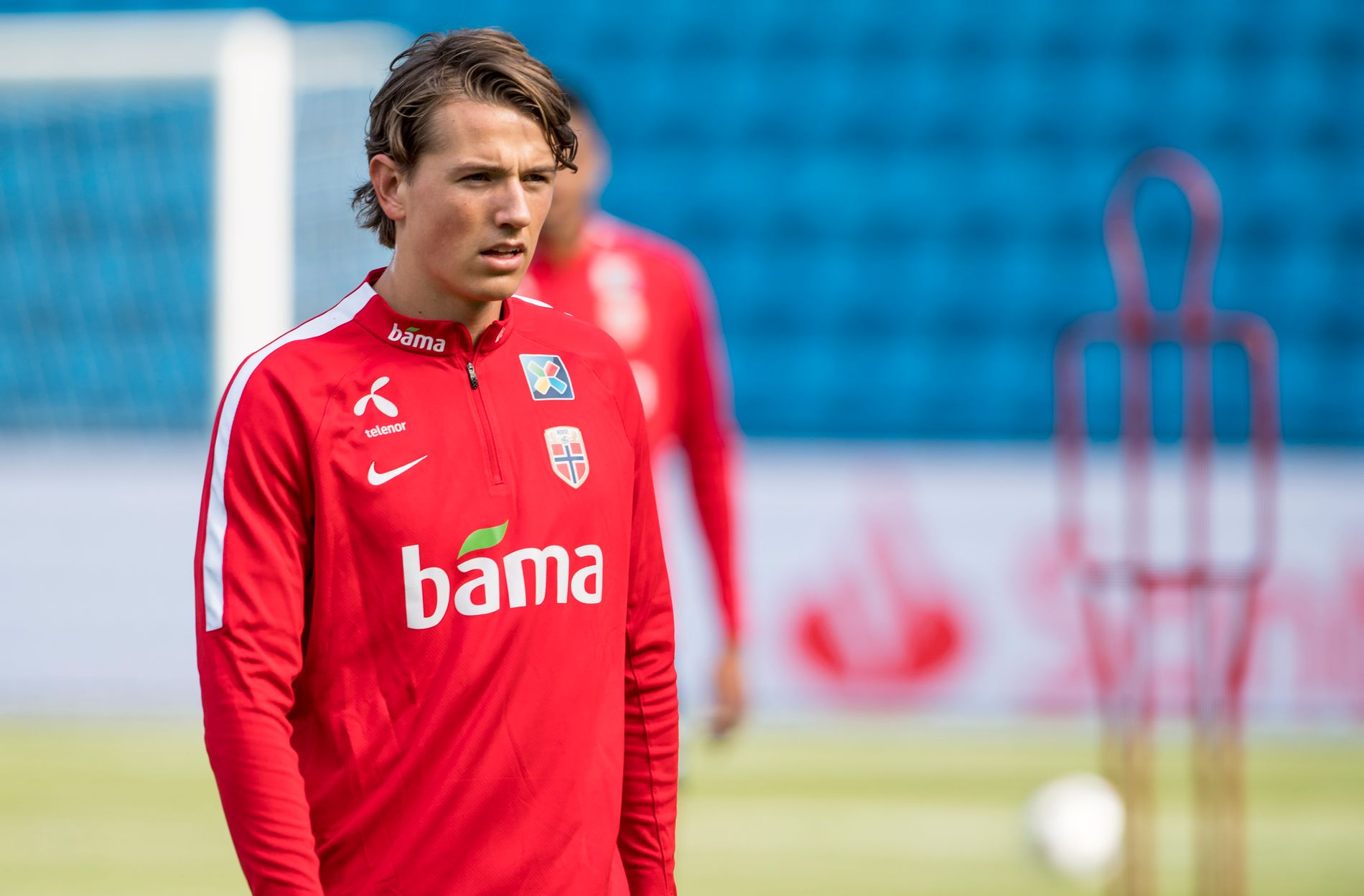 TAPER «ALDRI»: Sander Berge, her under landslagets trening på Ullevaal Stadion tirsdag 4. september, har ikke tapt en fotballkamp siden comebacket fra skade.