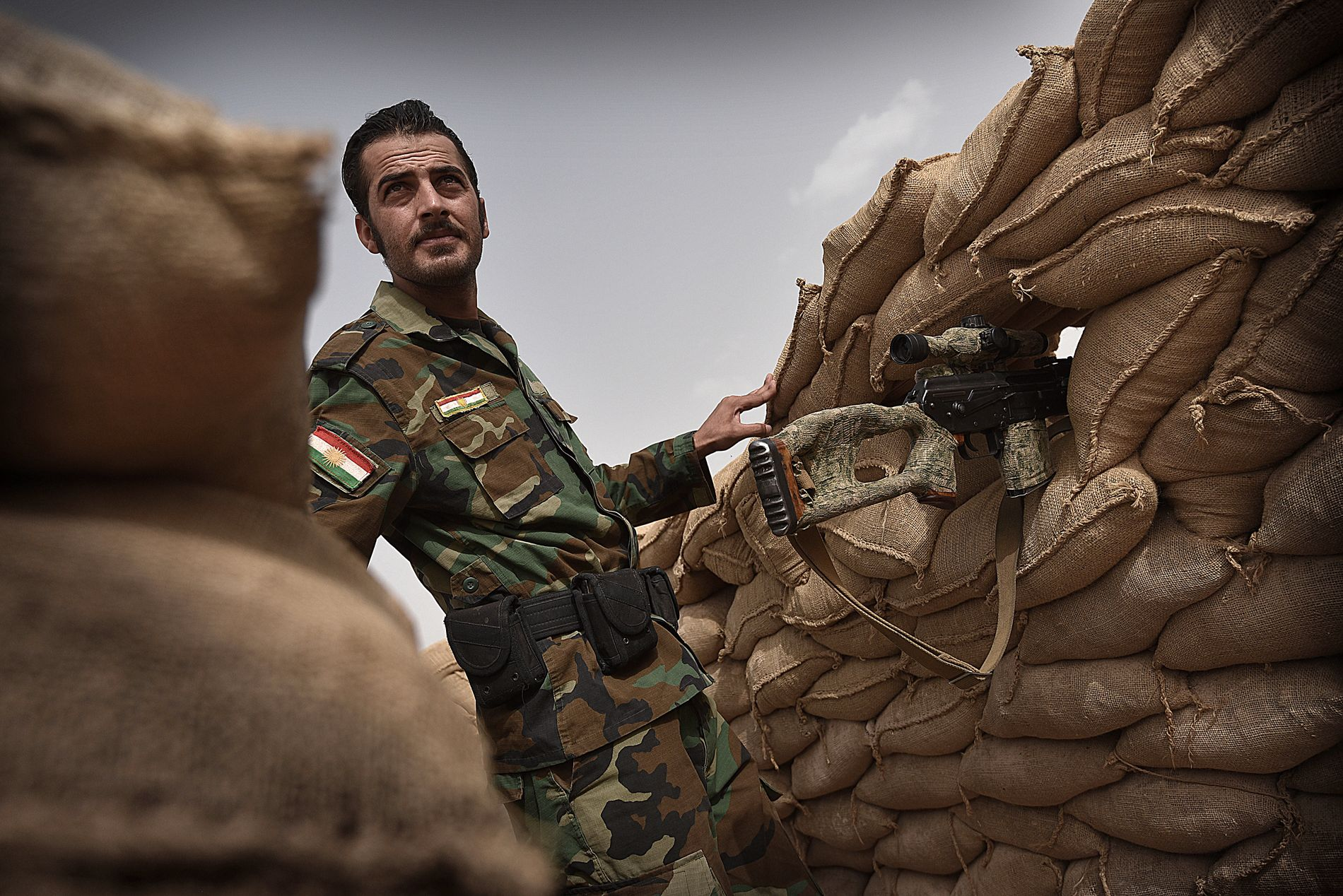 KRIGERE FRA IRAN: Iranske Peshmerga-styrker er kommet for å hjelpe sine kurdiske brødre i kampen mot IS i Irak. Foto: