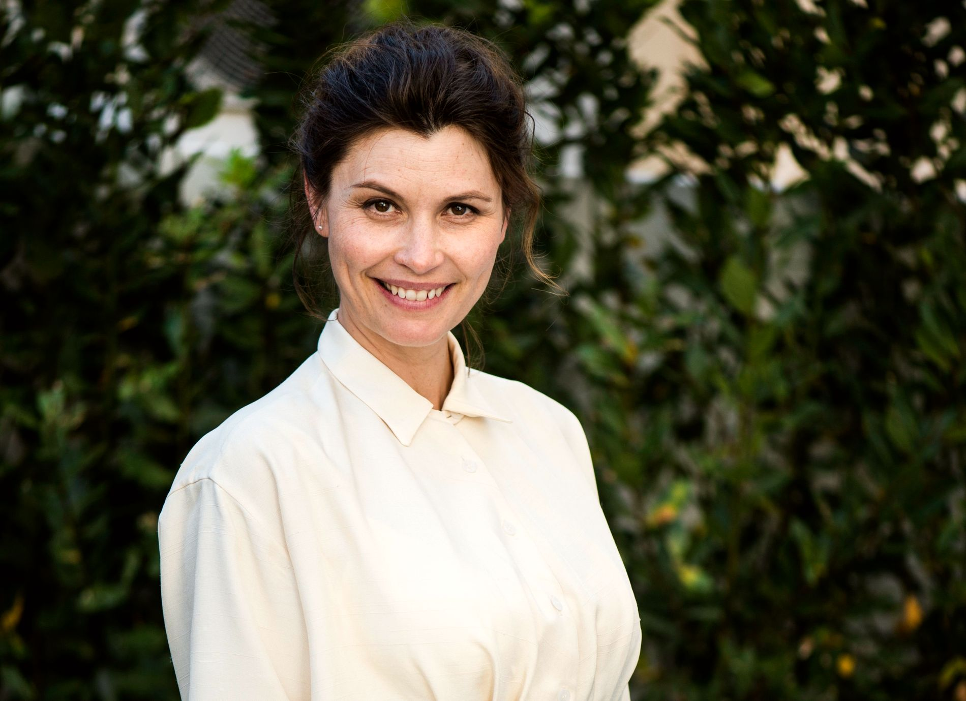 KRIGERKLAR: Lisa Loven Kongsli på filmfestivalen i Cannes med Ruben Östlunds film «Turist» i 2014. I år vant Östlund i Cannes.