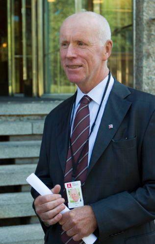 GODT FORNØYD: NVE-direktør Per Sanderud.