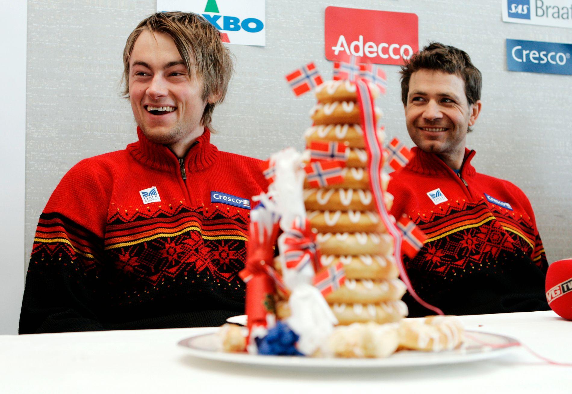 TRØBBEL: Det har vært mye kos med Petter Northug og Ole Einar Bjørndalen for det norske folk, som herfra Sapporo-VM i 2007. Men til vinterens OL er de begge i faresonen.