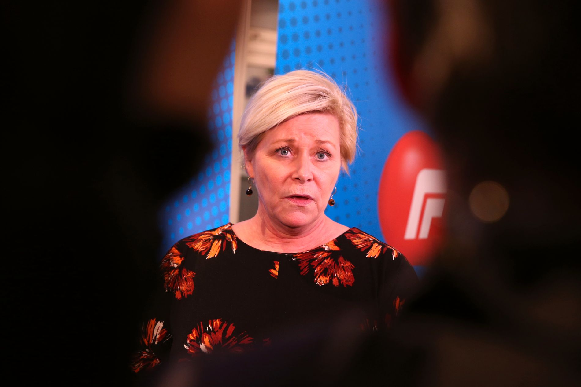 KLAR FOR Å FORHANDLE: Tirsdag fikk finansminister og Frp-leder Siv Jensen ryggdekning fra landsstyret til å forhandle videre om en firepartiregjering med KrF som ny regjeringspartner.