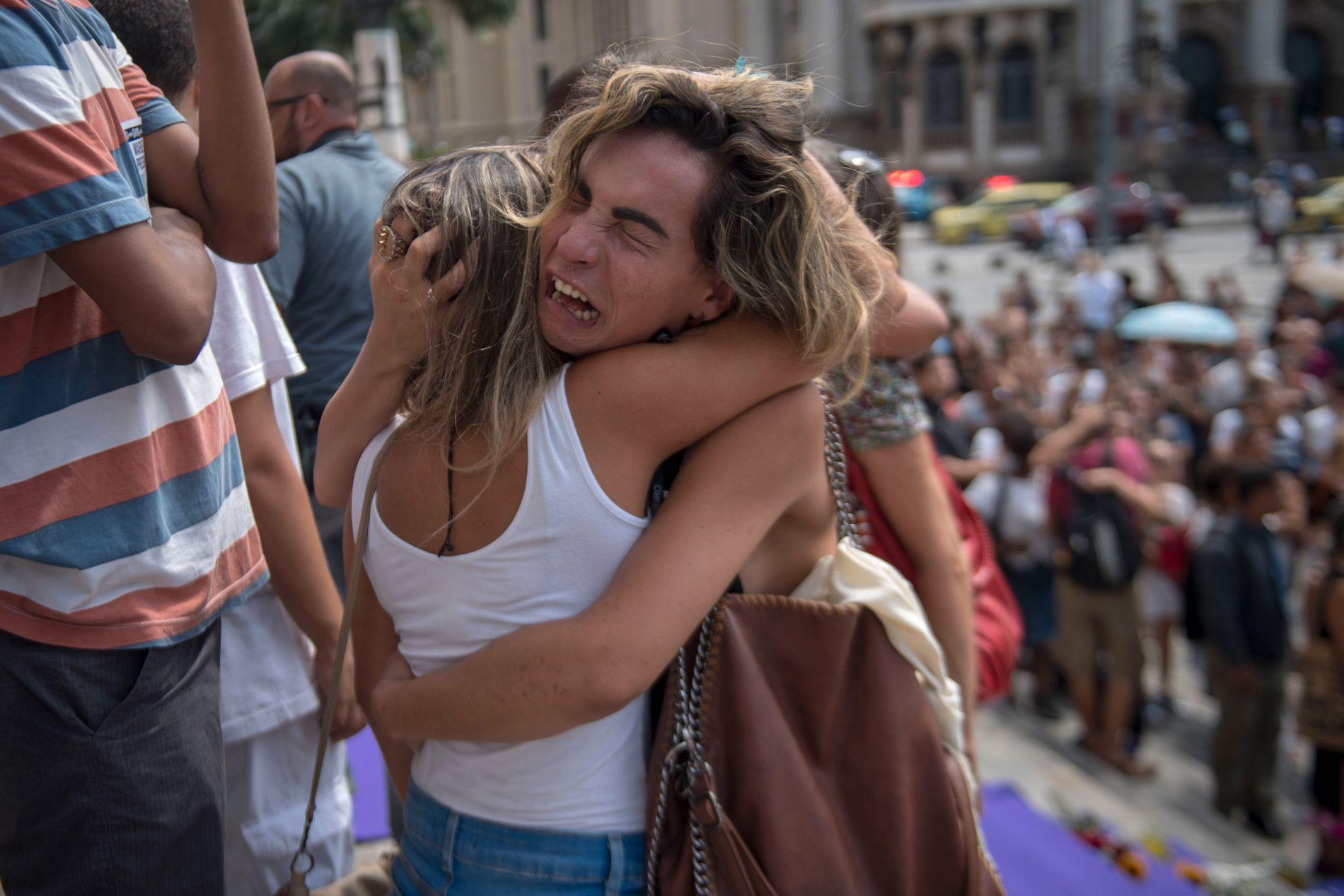 STERKE FØLELSER: Det brutale drapet på feministen Marielle Franco satte i gang sterke følelser i Brasil i mars 2018.