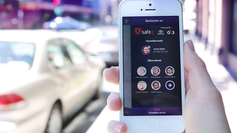 SIKKERHET: Med appen bSafe er det Safe4 sin alarmsentral som bistår deg. Foto: Safe4