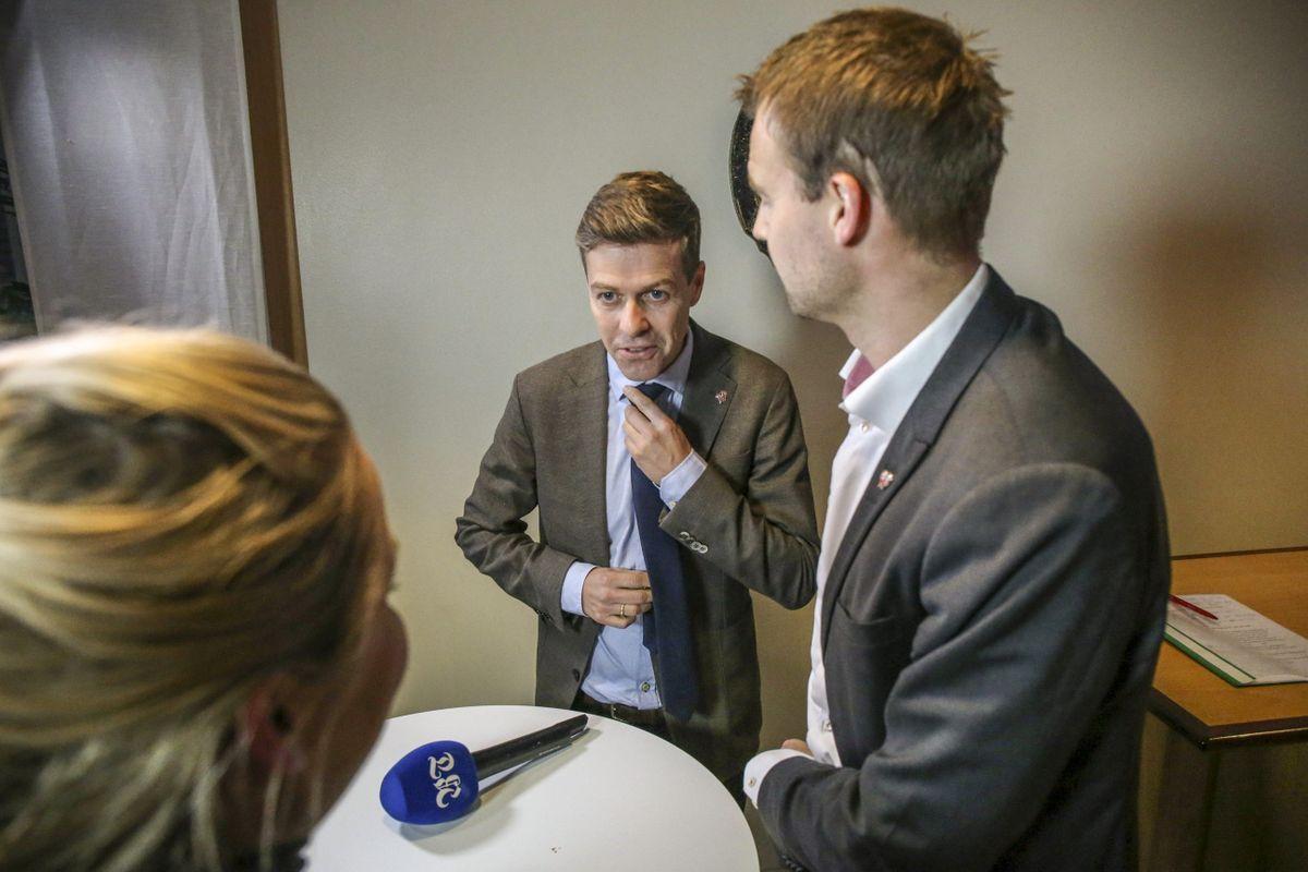 OPTIMIST: KrF-leder Knut Arild Hareide tror det fortsatt er mulig å få sitt eget parti til å velge Jonas Gahr Støre som ny statsminister.