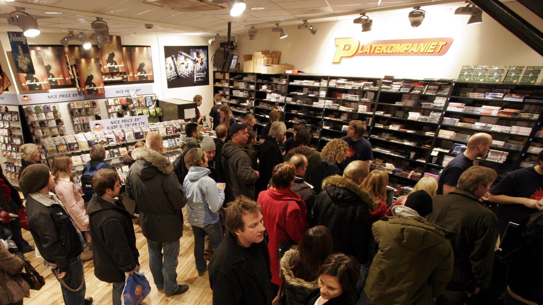 SJELDEN VARE: Bildet tatt julen 2005 på Platekompaniets butikk på Oslo City. Butikken er én av de få som nå blir værende.