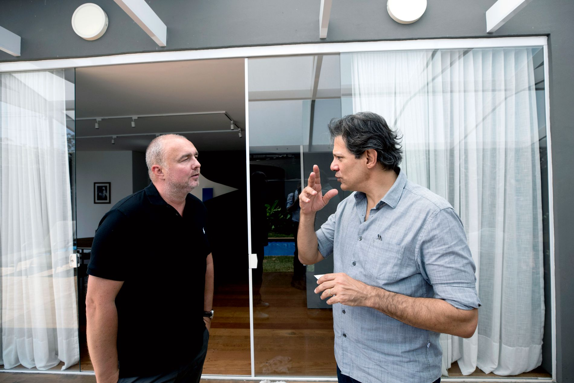 MØTTE VG: Fernando Haddad sa ja til et intervju med VGs USA-korrespondent Robert Simsø i sitt hjem i Sao Paulo i Brasil.