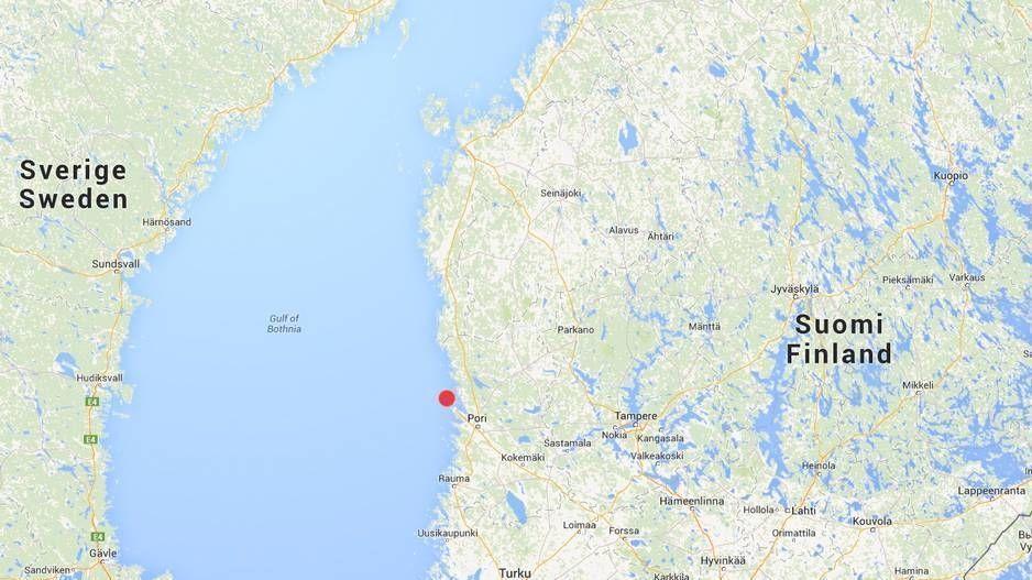 HER KOMMER DEN: Ti eller elleve havvindturbiner skal settes opp utenfor byen Pori.