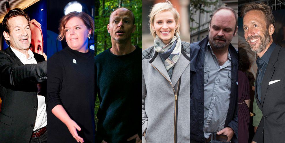 KLARE FOR KLUBB: Jon Almaas, Else Kåss Furuseth, Harald Eia, Anne Rimmen, Atle Antonsen og Thomas Giertsen.