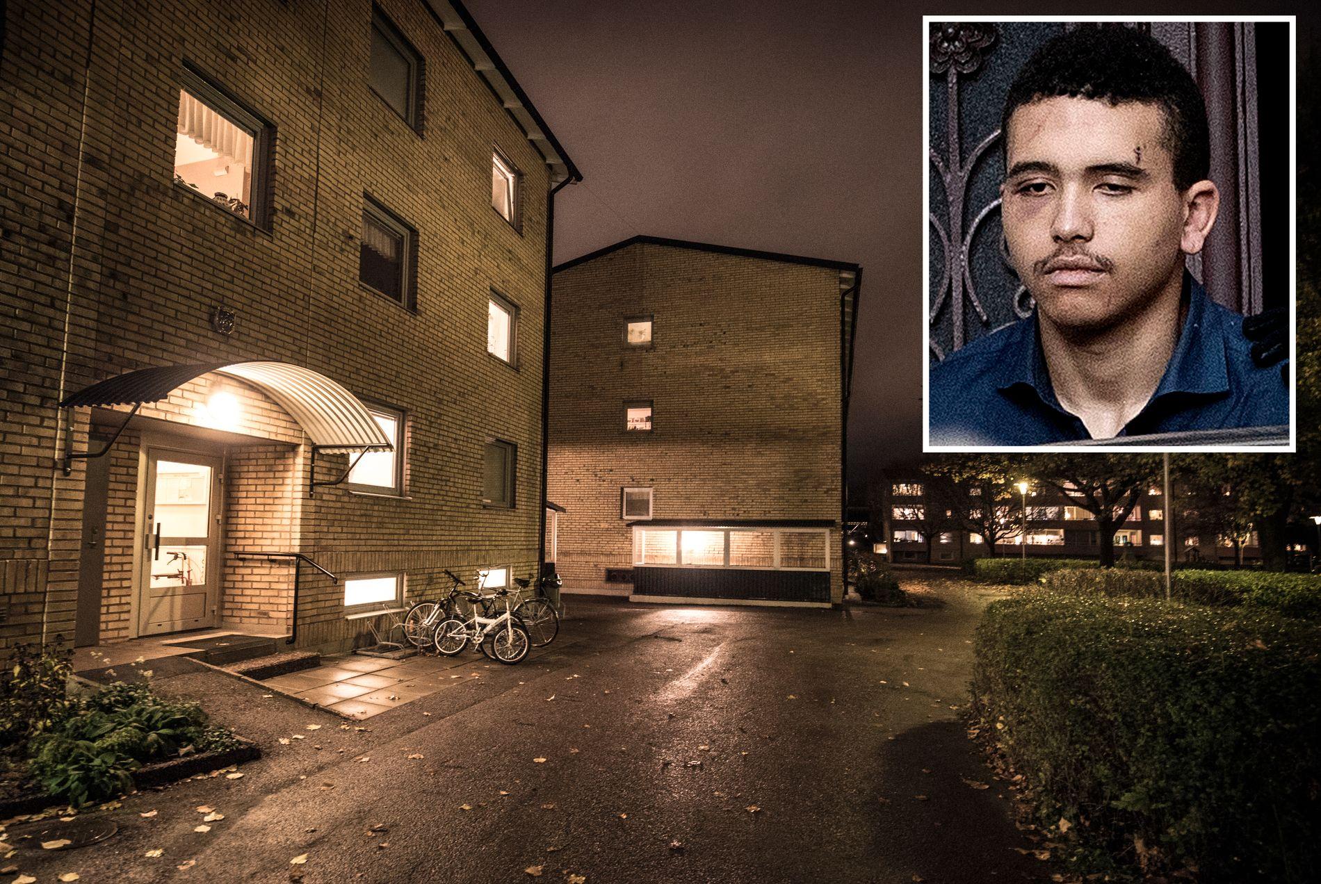 DRO HIT: Etter drapet på Majorstuen reiste Makaveli Lindén ifølge VGs opplysninger til denne blokken i bydelen Gränby i Uppsala der hans far bor.