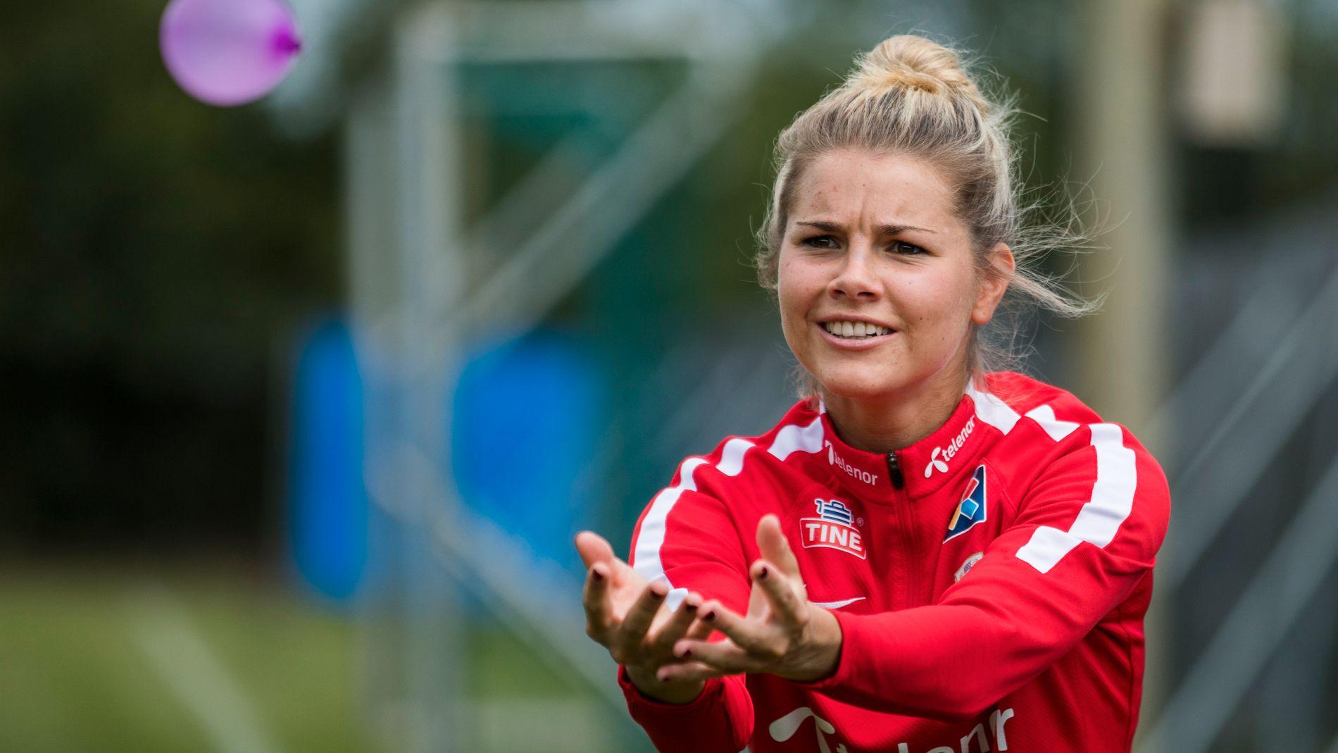 Andrine Hegerberg, en un entrenamiento con Noruega (Foto: EFE).