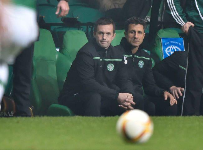 SKUFFENDE: Ronny Deila ser sitt Celtic tape 1-2 for Molde hjemme på Celtic Park tidligere denne måneden.