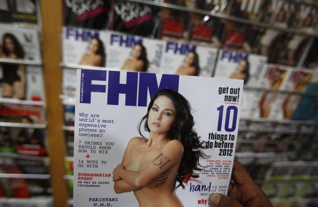 FORSIDEPIKE: Den pakistanske skuespillerinnen Veena Malik stilte opp på lettkledde bilder i bladet FHM i 2011.