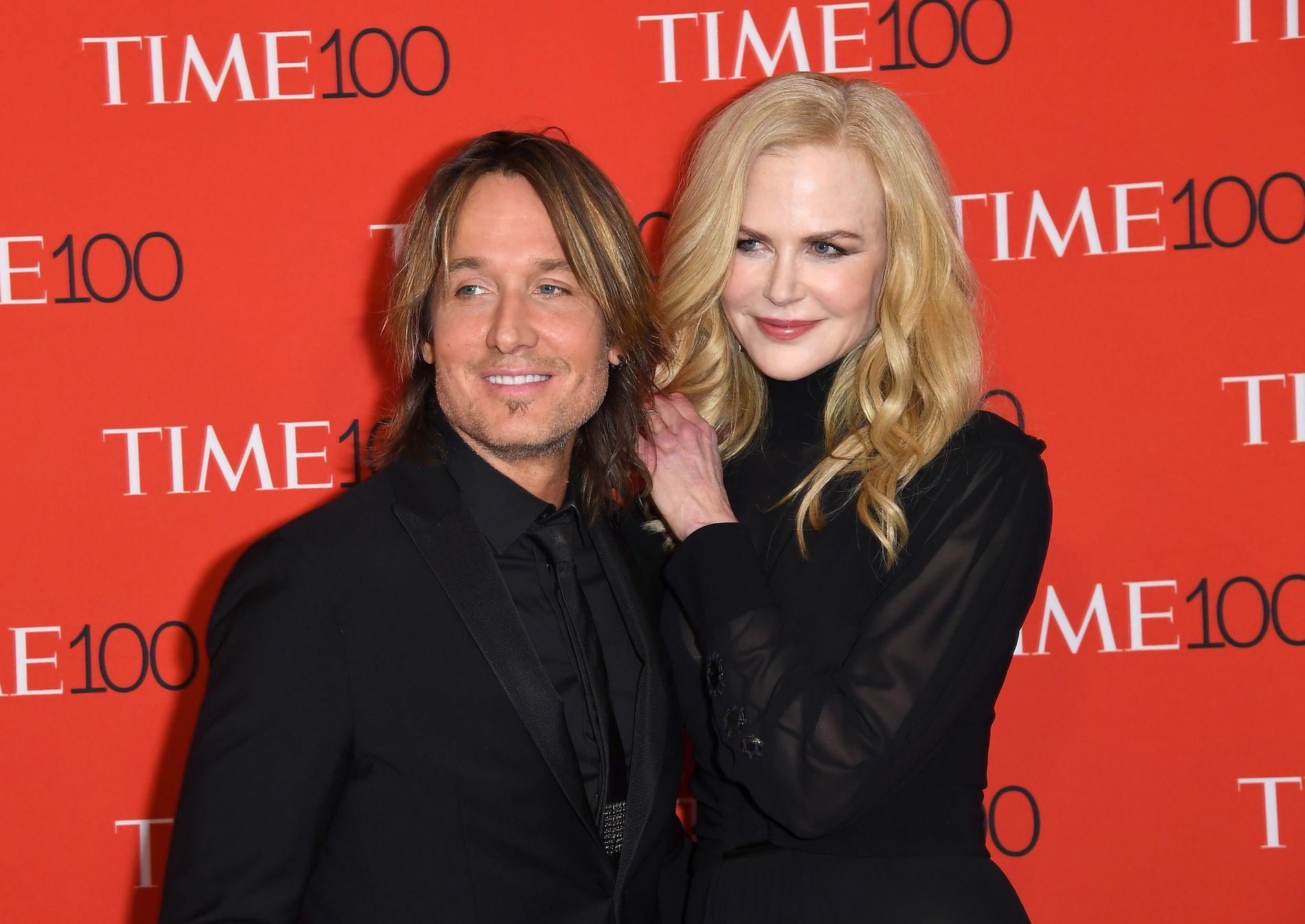 EKTEPAR: Keith Urban og Nicole Kidman på Time 100 Gala i New York i april i år.