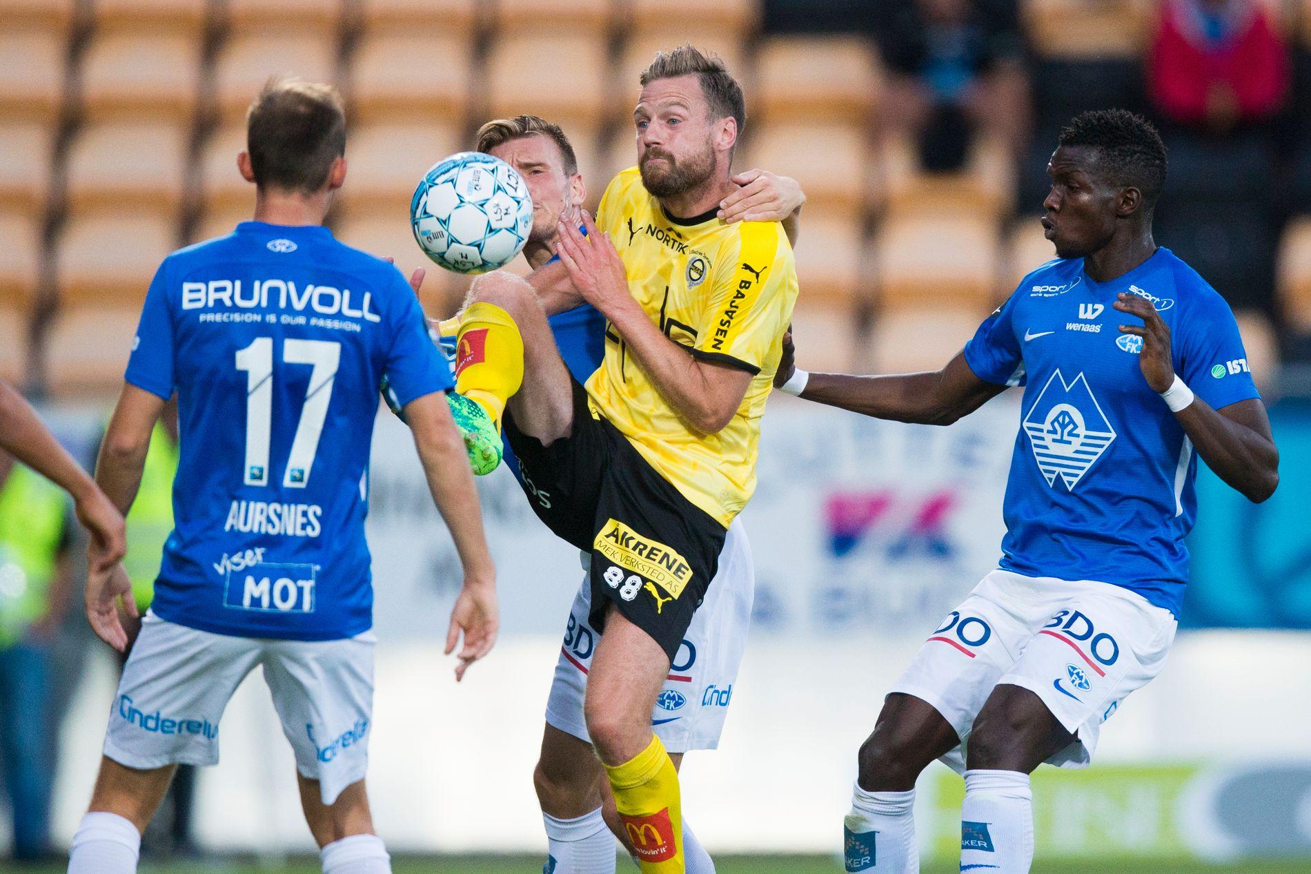 MÅL I FØRSTE KAMP: Arnór Smárason scoret allerede i første kamp for Lillestrøm i eliteseriekampen mot Molde.