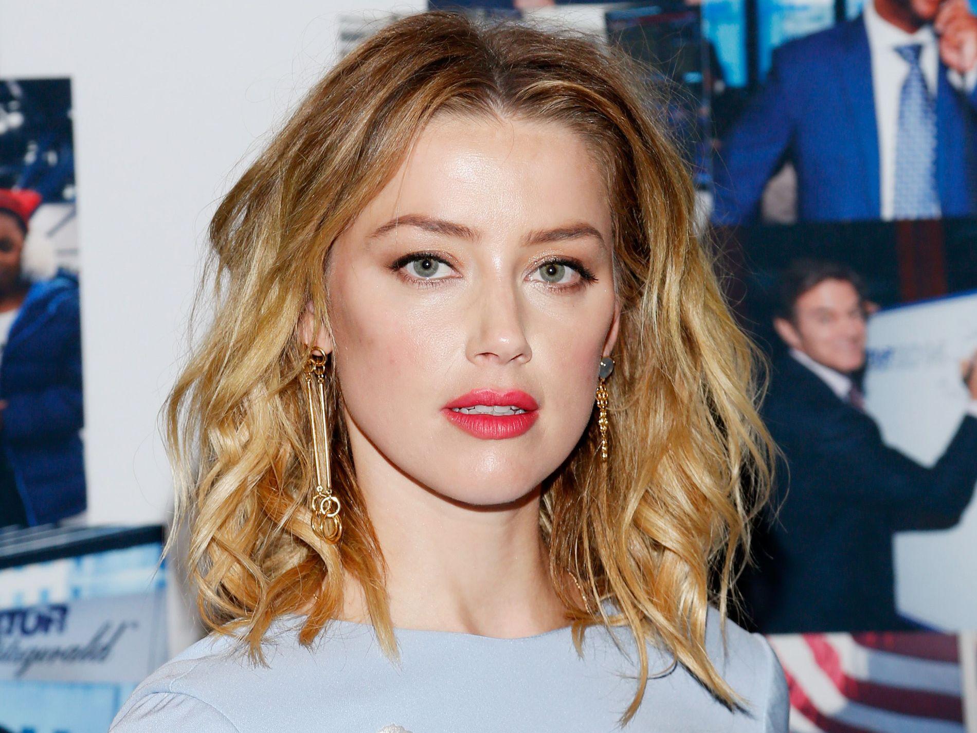 TIL MOTMÆLE: Amber Heard, her på en veldedighetsgalla i New York i september i år.