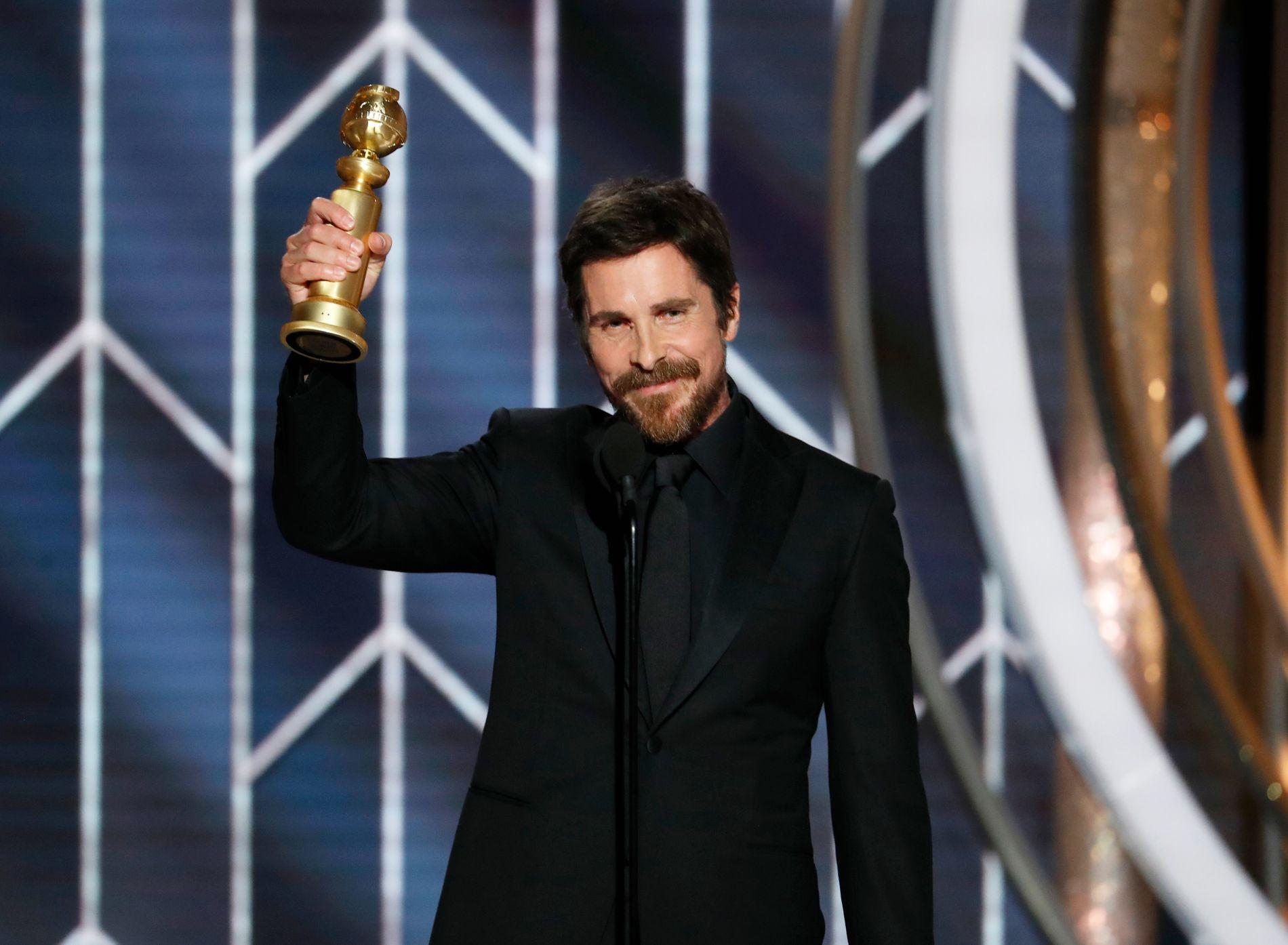 VANT: Christian Bale leverte en overraskende takketale da han vant for «Vice».