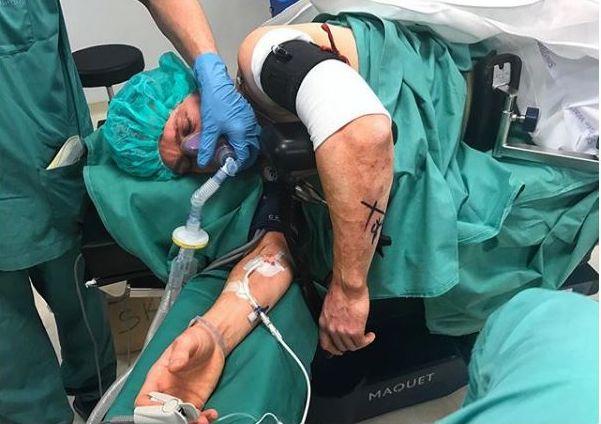 PÅ'N IGJEN: Ailo Gaup ble operert torsdag. Bildet er gjengitt fra Instagram med tillatelse.