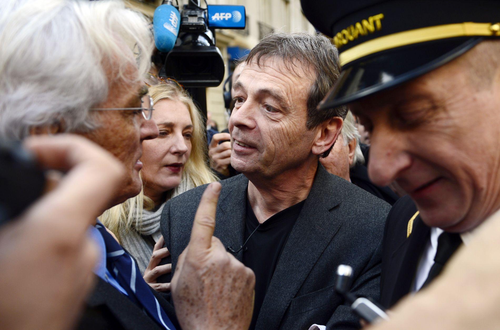 OMSVERMET: Pierre Lemaitre er Frankrikes nye store krimstjerne. Her et arkivbilde fra da han mottok den franske største litteraturprisen i 2013.