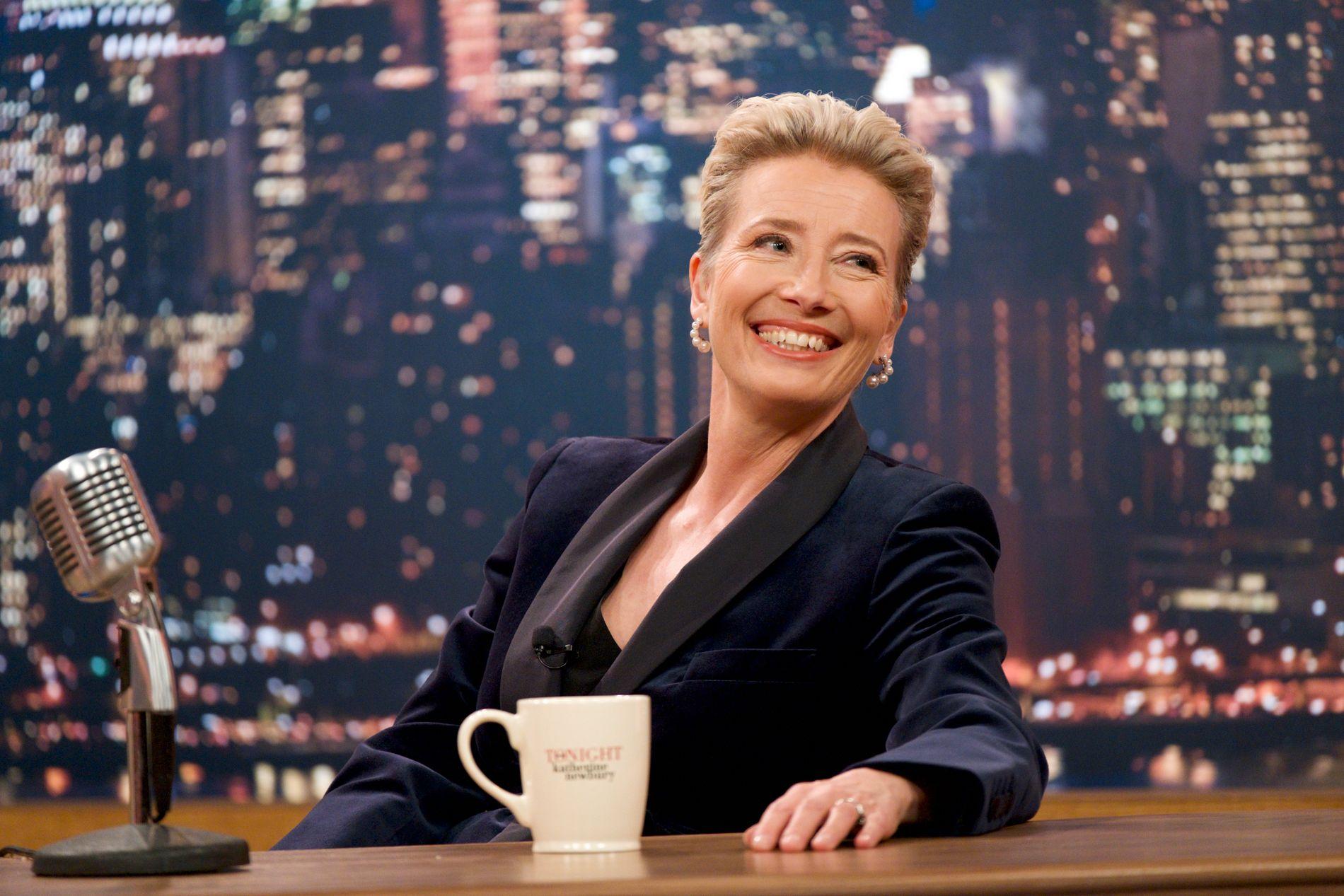 «OG GJESTENE I KVELD ER ...»: Emma Thompson som snakkeshowvert i «Late Night».