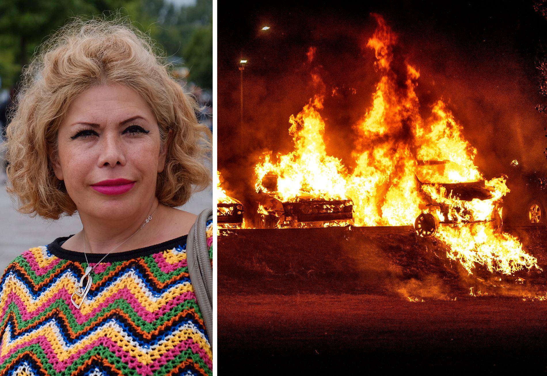 INFERNO: Sverige ble rystet av flere store branner mandag kveld. Her fra Trollhättan, en time nord for Göteborg.