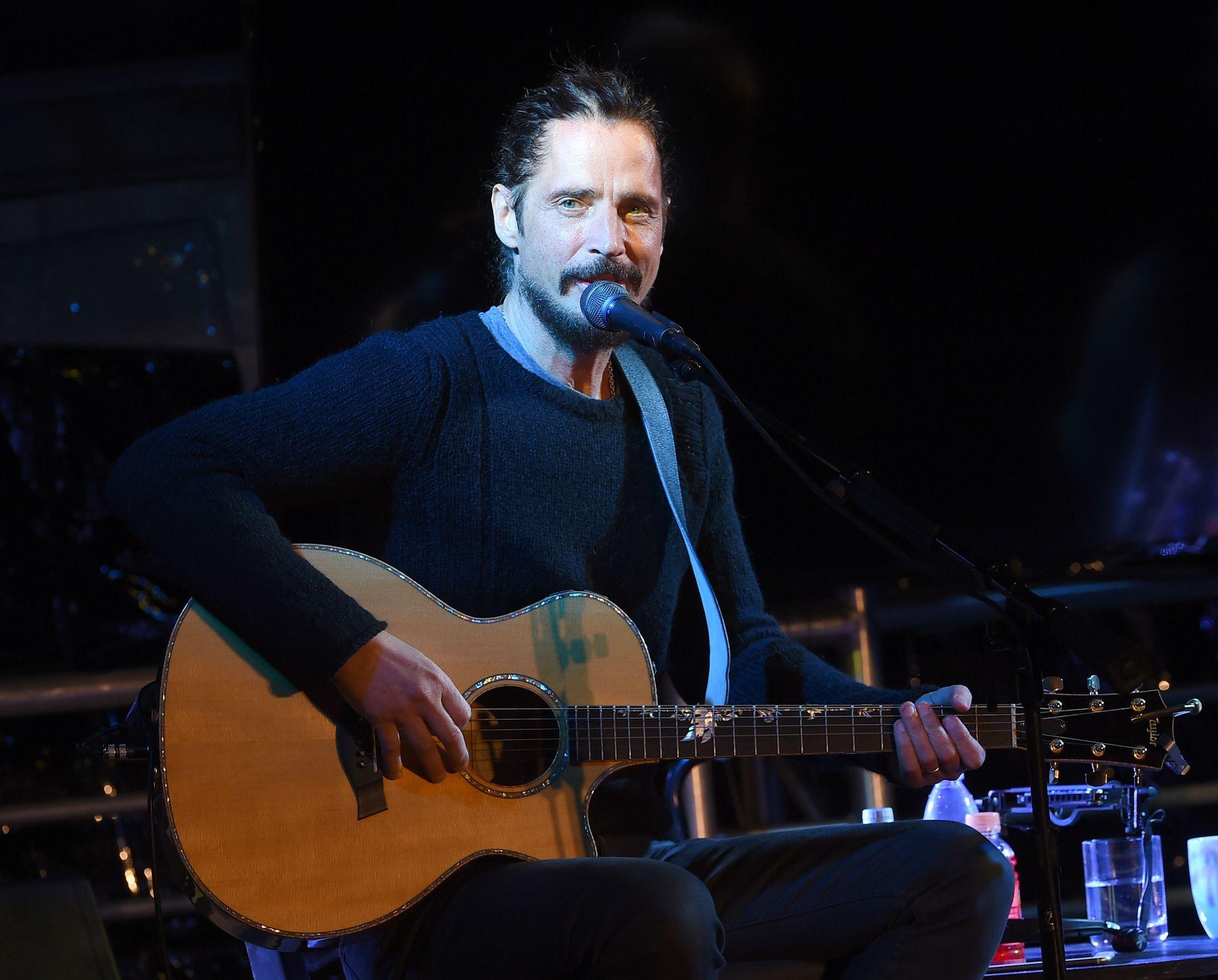 JANUAR: Chris Cornell på scenen i Malibu i januar i år.