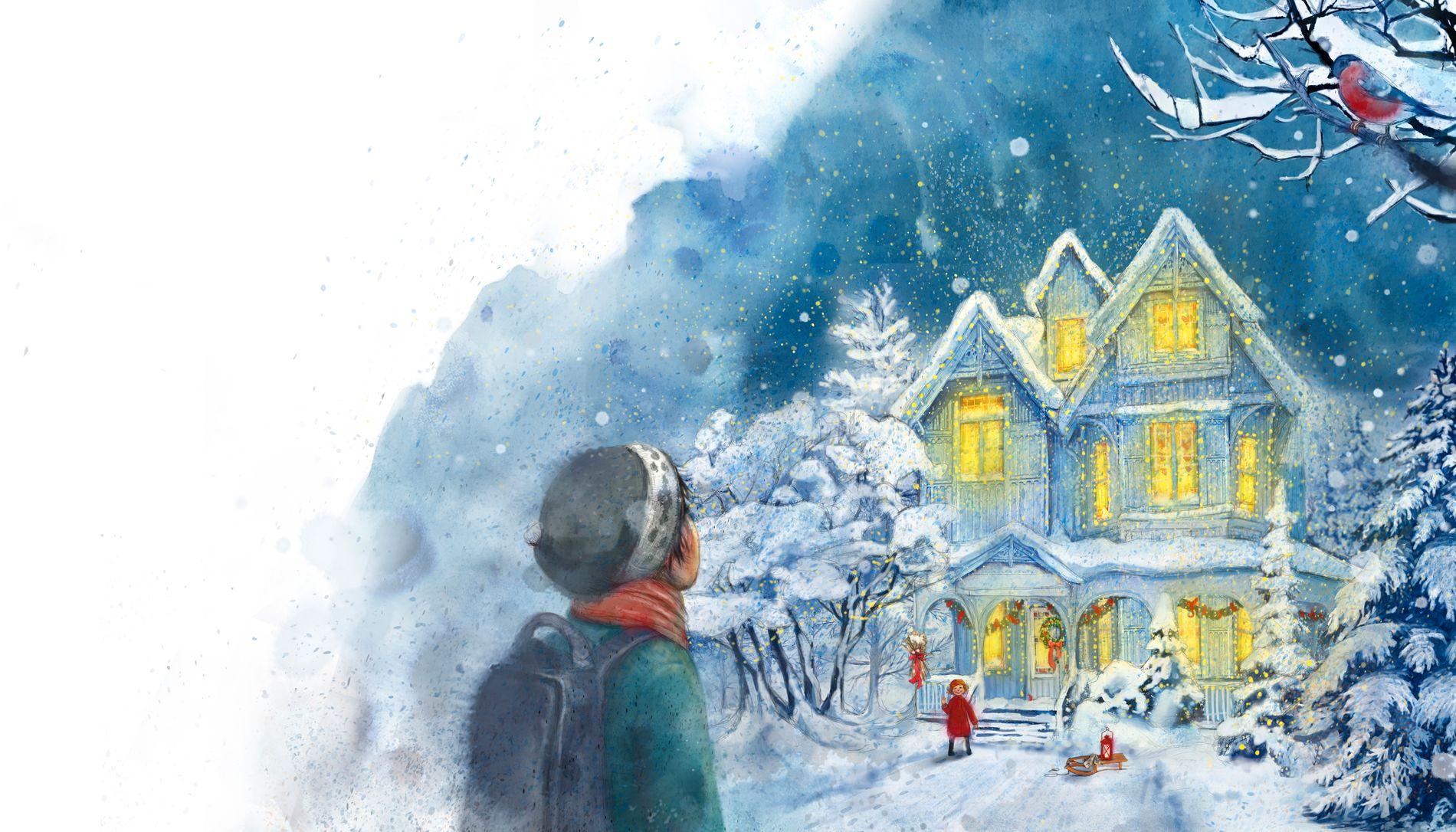 ALVORLIG TEMA: Boken har også et alvorlig tema midt oppe i jule- og snøgleden, det handler blant annet om å miste et barn. – Mange bekymrer seg for at julen ikke blir som før, men så er budskapet at julen kan bli god – selv om ting er annerledes, sier Maja Lunde.